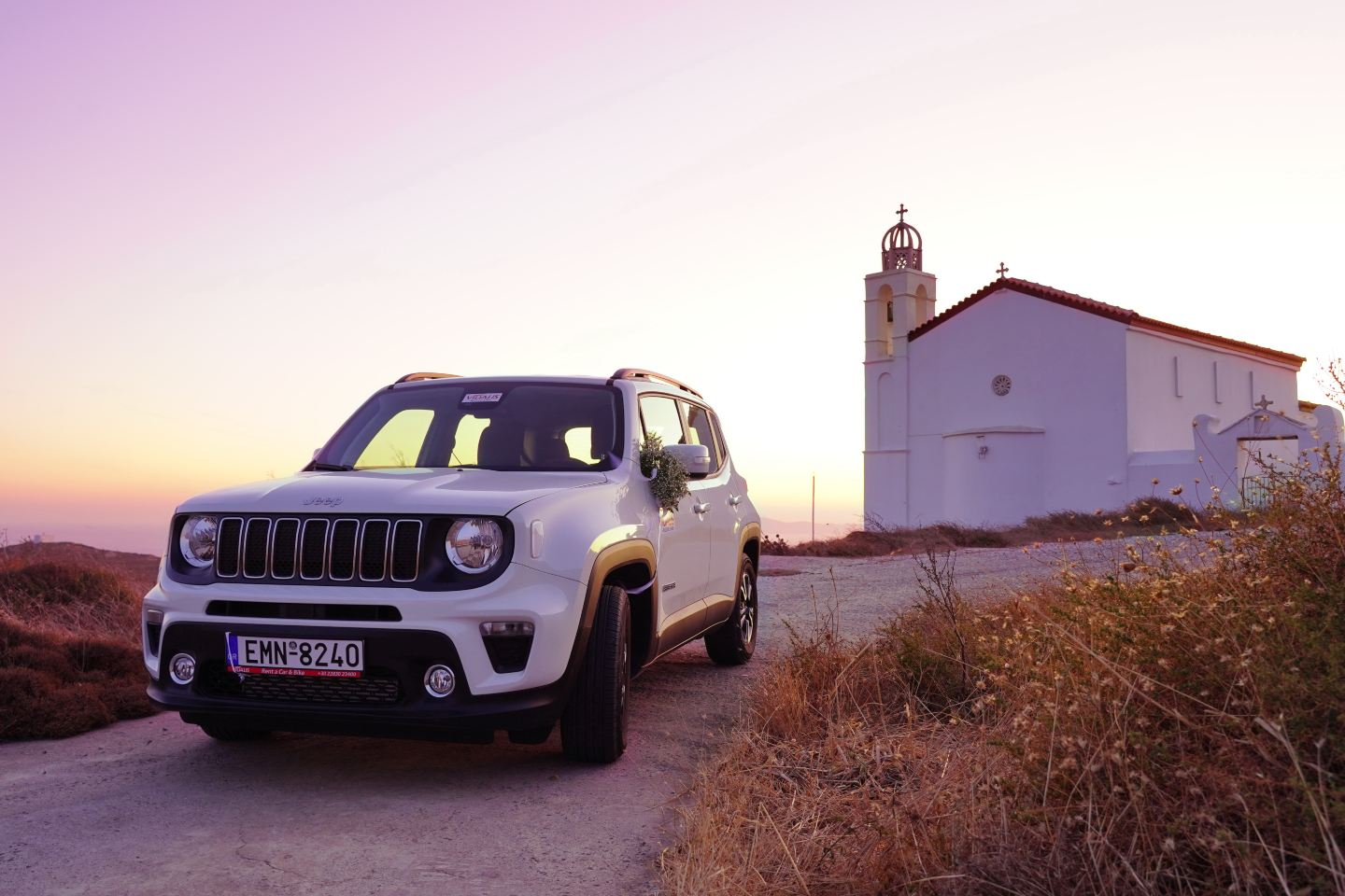 Jeep Renegate vidalis rent a car tinos